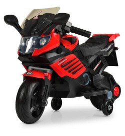 Мотоцикл M 3582EL-3 (1шт) мотор 15W, аккум6V/4,5AH, колесоEVA,кож.сид, красн