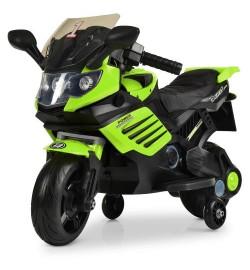 Мотоцикл M 3582EL-5 (1шт) мотор 15W, аккум6V/4,5AH, колесоEVA,кож.сид, зелен