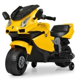 Мотоцикл M 4082-6 (1шт) 1мотор25W, 1аккум6V4AH, музыка, свет, желтый