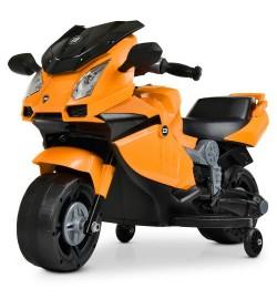 Мотоцикл M 4082-7 (1шт) 1мотор25W, 1аккум6V4AH, музыка, свет, оранж.