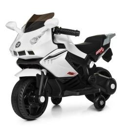 Мотоцикл M 4215-1 (1шт) 1мотор15W, 1аккум6V4AH, муз, свет, USB, белый