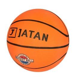 Мяч баскетбольный VA-0001-1 (50шт) размер 6, резина, 550г,рисунок-печать, в кульке