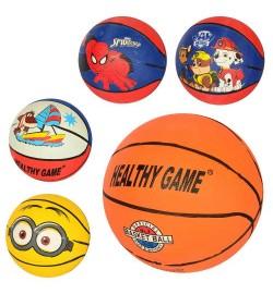 Мяч баскетбольный VA-0001-3 (80шт) размер 3, резина, 300г,рисунок-печать,микс видов,в кульке