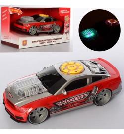 Машина WY100A (24шт) 24см, муз, звук, свет, ездит, на бат-ке, в кор-ке, 31-16,5-14см