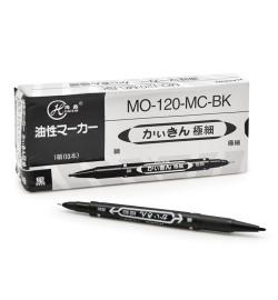 Маркер перманентный двухсторонний черний ST00852 (2400шт)