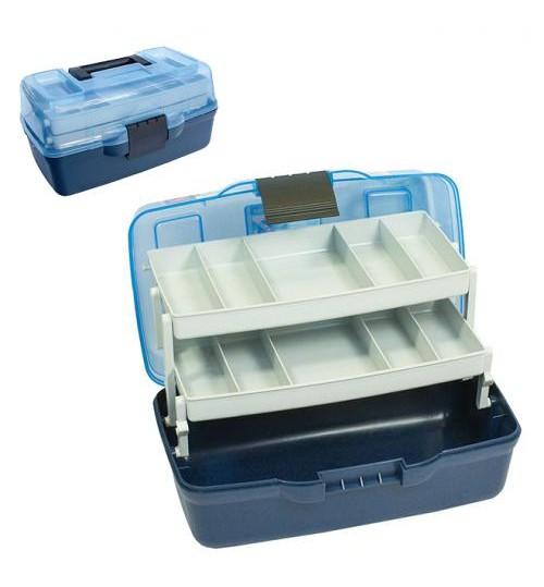 Ящик для снастей 2яр. с прозрачной крышкой 30.5*18.5*15см AQT-1702T (12шт)