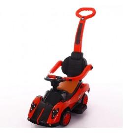 Толокар T-937 RED с муз.свет,кожан.сиденье,колеса поворач.на 360 69*42*85 /1/