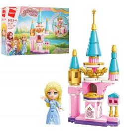 Конструктор Qman 2613-4 (64шт) замок принцессы, фигурка, 103дет, в кор-ке, 22-14,5-4см