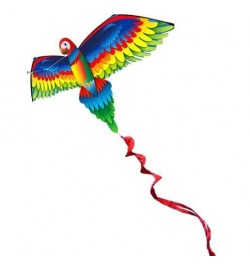 Воздушний змей Попугай с веревкой 140см