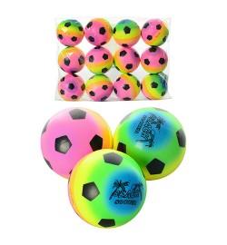 Мяч детский фомовый MS 0260 (120шт) 3 дюйма, радуга, 12шт в кульке, 21-28-6,5см