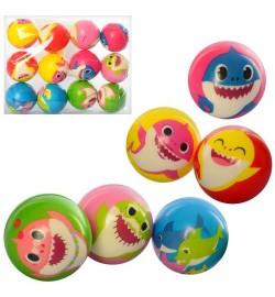 Мяч детский фомовый MS 2986 (240шт) 6,3см, акула, микс видов, упаковка 12шт, 25-19-6,3см