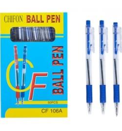 Ручка масляная автоматическая CHIFON CF106A синяя