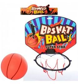 Баскетбольное кольцо MR 0128 (96шт) щит 28-21-картон,кольцо17см-пластик,сетка,мяч,в кульке,30-30-2с