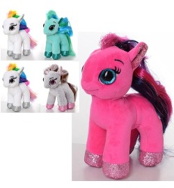 Мягкая игрушка MP 2076 (48шт) лошадка16см, размер маленький, 4цвета, в кульке