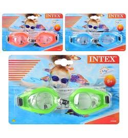 Очки для плавания 55602 (12шт)о т 3до 8 лет