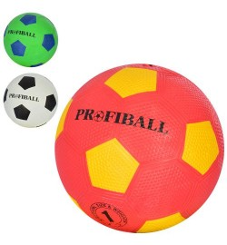 М'яч Футбольний VA-0009 (100шт) Размер1, Гума, Grain, 160-163г, 3 Кольори, в кульку