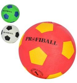 Мяч футбольный VA-0009 (100шт) размер1, резина, Grain, 160-163г, 3 цвета, в кульке