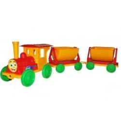 Поезд-конструктор 2 прицепа 013118 червоний