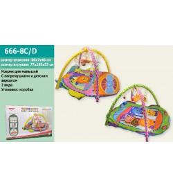 Килимок для малюків 666-8C / 8D (12шт / 2) 2 види, з погрем.на дузі, в кор 66 * 7 * 45см