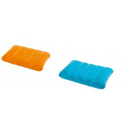 Подушка 68676 (24шт) надувная, 2 цвета, 43-28-9см велюр