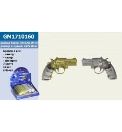 Приколи - пустощі GM1710160 (288шт) пістолет -шокер + лазер-ліхтарик, 2 кольори, 10см 12шт в дісплейбоксе