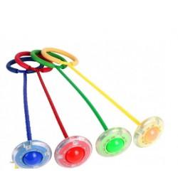 НЕЙРО скакалка с колёсиком SR19001 (100шт) на одну ногу,62 см свет, 5 цветов