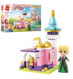 Конструктор Qman 2613-2 (64шт) замок принцессы, фигурка, 116дет, в кор-ке,  22-14,5-4см