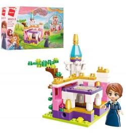 Конструктор Qman 2613-3 (64шт) замок принцессы,фигурка, 118дет, в кор-ке, 22-14,5-4см