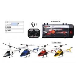 Р.У.Вертолет LD-662 с гироскопом.метал.свет.USB.4цв.чемодан 27,5*9*13 /24/