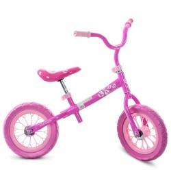 Беговел M 3255-1 (1шт) два колеса 12д.,розовый, колесо EVA, д83-ш48-в65см,в кор-ке,