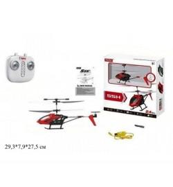 Вертолет на р/у Syma S5H с гироскопом,барометром.свет.USB.2цв.кор.29,3*7,9*27,5  /24/
