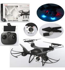 Квадрокоптер K3C (6шт) р/у2,4G,аккум,30см,свет,камера, Wi-Fi, USBзар, 2 цвета, в кор-ке, 38,5-24-8с
