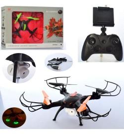 Квадрокоптер LH-X43HWF (6 шт) р / у2,4G, аккум, 39см, камера, св, зап.лоп, USBзар, 2цв, в кор-ке, 52,5-40-6см