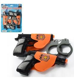 Набор полицейского 1414-15 (120шт) пистолеты 2шт, наручники, в кульке, 22-31-5см