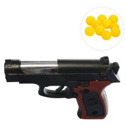 Пистолет 363 (600шт) на пульках, 13см, в кульке, 13-9-2,5см