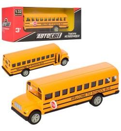 Автобус AS-2196 (48шт) АвтоСвіт,1:32,металл,инер-й,14см, рез.колеса, в кор-ке, 16,5-7-7см