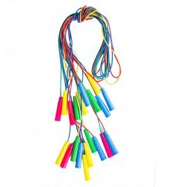 Скакалка цветная плотная 2,20 см  кол. в уп. (150 шт) МИНИМАЛЬНЫЙ ЗАКАЗ 10ШТ