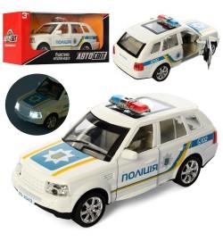 Машина AS-2343 (48шт) АвтоСвіт,металл,полиция14см,звук,св,отк.двери,рез.кол,бат(табл),кор,16,5-7-7с