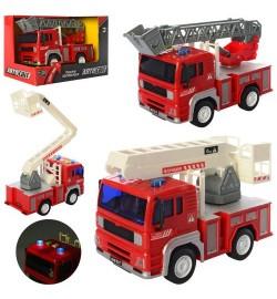 Пожарная машина AS-2616 (36шт) АвтоСвіт,инер-я,1:20,19см,зв,св,рез.кол,2в,бат,кор,23,5-15,5-11,5см