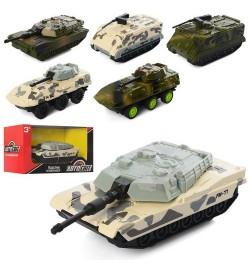 Танк AS-2368 (72шт) АвтоСвіт, металл, инер-й, 9см, резин.колеса, 6видов, в кор-ке,14-7,5-7см