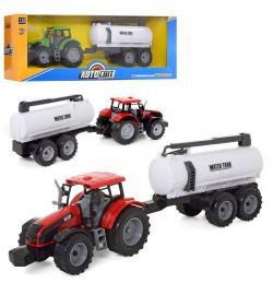 Трактор AS 2016 (24шт) АвтоСвіт, 1:32, інер-я, цистерна, 42см, 2цвета, в кор-ке, 48,5-16-11,5см