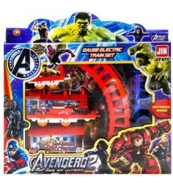 Железная дорога Avengers 877-66B/69C/85K (108шт/2) батар., 3 вида,в кор. 25*3,5*25,5 см, р-р игрушки – 27.5 Мстители