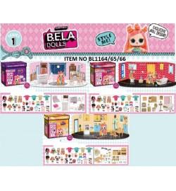 Ігровий набір лялька + меблі для будиночка BELA DOLLS BL1164 / 65/66 (36шт) в кожному наборі-2 варіанти мебе