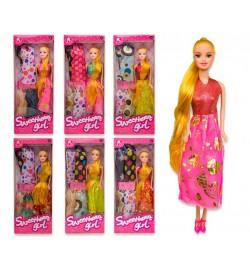 Кукла 6004A (1617560) (120шт/2) 6 видов, с набором одежды, в кор.32*4*13 cm