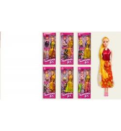Кукла 8001B (1776261) (120шт/2) 6 видов, куколка, с набором одежды, в кор.32*4*13 cm