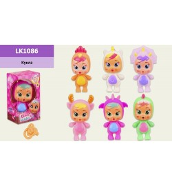 Пупс CB LK1086 (216 шт / 2) 6 видів, в коробці 6 * 4,5 * 11 см, р-р іграшки - 9 см