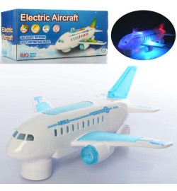 Самолет 3223-1 (64шт) 23см, звук, свет, ездит, на бат-ке, в кор-ке, 24-11-8см