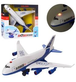 Самолет 987-3 (36шт) 28см, на подставке, ездит, звук, свет, на бат-ке, в кор-ке, 26-26-10,5см