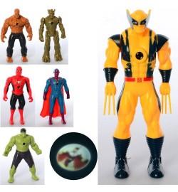 Фігурки для гри HF888-5AB (180шт) супергерой, 15,5 см, проектор, мікс вид, бат (таб), в кульку, 7-15,5-4с