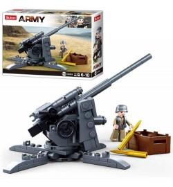 Конструктор SLUBAN M38-B0852 (72шт) военный, пушка, фигурка, 115дет, в кор-ке, 19-14,5-4,5см